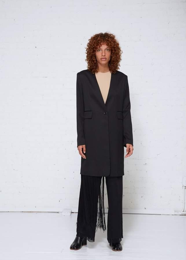 Fringe Wool Suiting Jacket