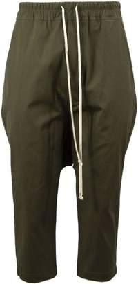 Rick Owens Green Cotton Cropped Pants.