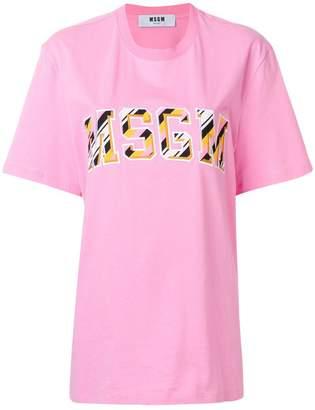 MSGM front logo loose T-shirt