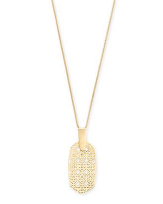 Kendra Scott Inez Long Pendant Necklace in Filigree