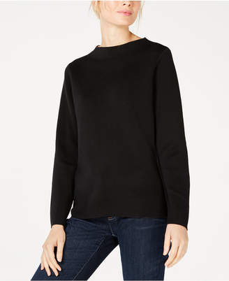 Eileen Fisher Silk Funnel-Neck Boxy Sweater, Regular & Petite