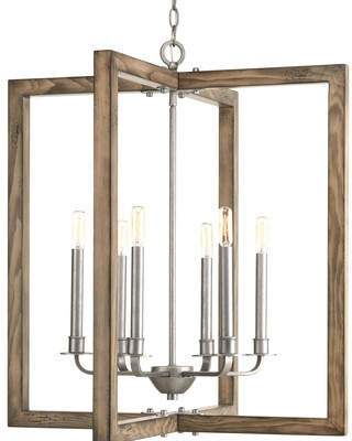 Union Rustic Daugherty 6-Light Square/Rectangle Chandelier