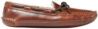 b3b548fd2f53d L.L. Bean L.L.Bean Men's Leather Double-Sole Slippers, Shearling-Lined