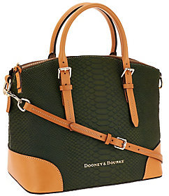 As Is Dooney & Bourke Claremont Python Domed Satchel $227 thestylecure.com