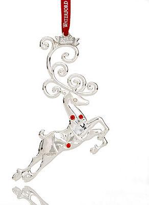 Waterford 2013 Reindeer Christmas Ornament