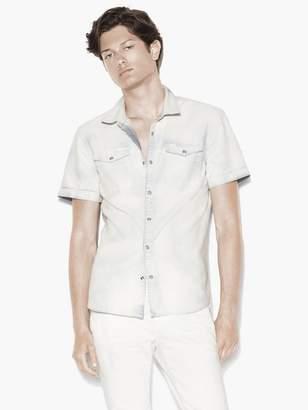 John Varvatos Short Sleeve Chambray Shirt