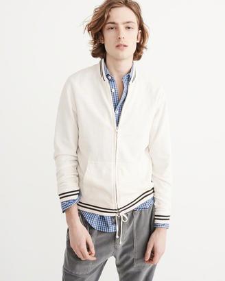 Full-Zip Varsity Jacket $60 thestylecure.com
