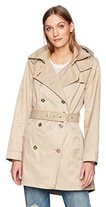Tommy Hilfiger Women's Double Breasted Casual Trench Coat