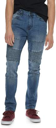 Ring Of Fire Men's Ring of Fire Slim-Fit Moto Jeans