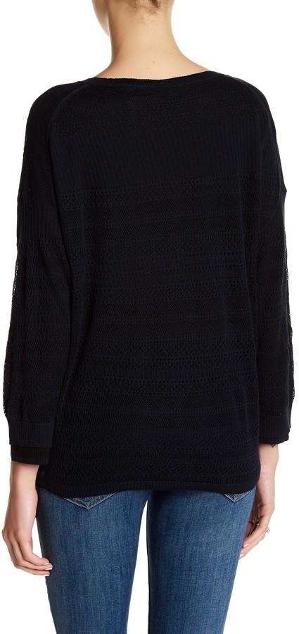 Inhabit Knit Lace Crew Neck Sweater 2