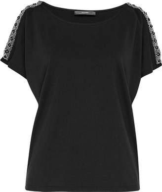 Hallhuber Beaded Cold-Shoulder Blouse