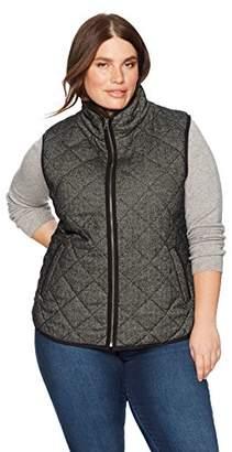 Haven Outerwear Women's Plus Size Herringbone Vest