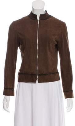 Kenzo Suede Zip-Up Jacket