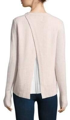 Brochu Walker Pleated Looker Split-Back Sweater