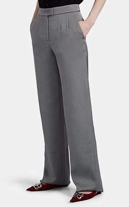 Giorgio Armani Women's Silk Wide-Leg Trousers - Gray