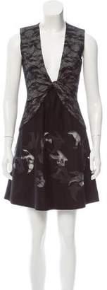 Diane von Furstenberg Lace-Trimmed Mini Dress
