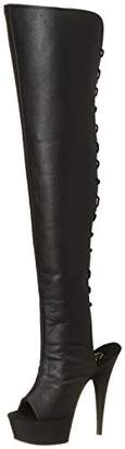 Pleaser USA Women's Delight-3019/B/PU Knee-High Boot
