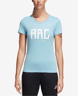 adidas Cotton Argentina Soccer T-Shirt