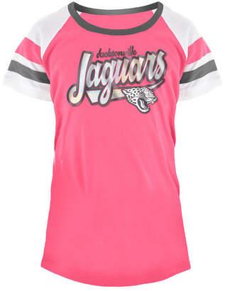 5th & Ocean Jacksonville Jaguars Pink Foil T-Shirt, Girls (4-16)