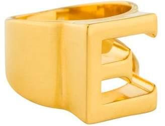 Chloé Alphabet 'E' Cocktail Ring