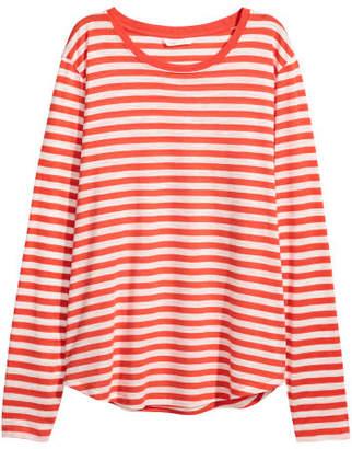 H&M Long-sleeved Jersey Top - Orange