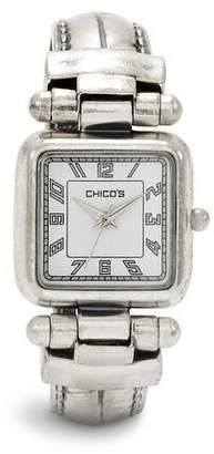 Chico's Chicos Silver Ox Cuff Watch