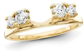 Zales 3/8 CT. T.W. Diamond Four Stone Solitaire Enhancer in 14K Gold