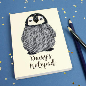 Equipment Zoe Gibbons Personalised Penguin Embroidered Notepad