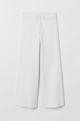 H&M Culotte High Ankle Jeans - White