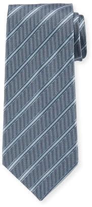 Giorgio Armani Men's Striped Woven Jacquard Tie, Turquoise