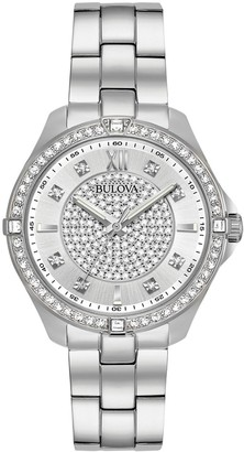 Bulova Women's Crystal Accent Stainless Steel Watch - 96L236