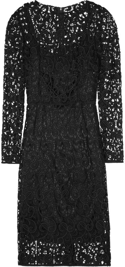 Dolce & Gabbana Wool-blend lace dress