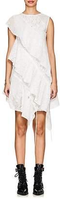 J KOO Women's Eyelet Ruffled Tiered Dress