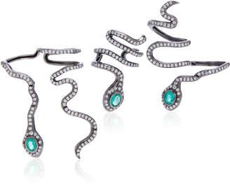 Colette Jewelry Eden 18K Black Gold And Diamond Hand Piece