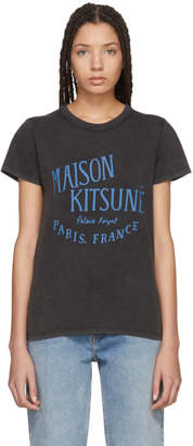 MAISON KITSUNÉ Black and Blue Palais Royale T-Shirt