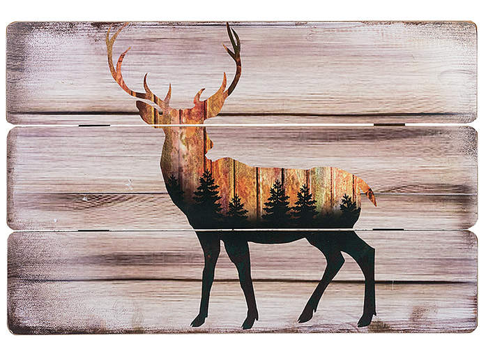 Deer Wood Wall Art
