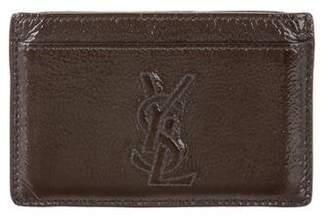 Saint Laurent Patent Leather Card Holder