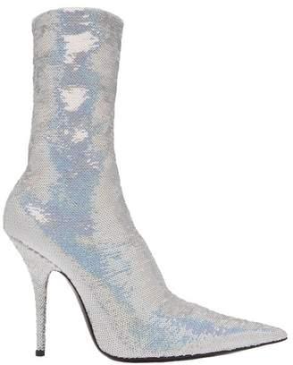 Balenciaga Knife Bootie - Womens - Silver