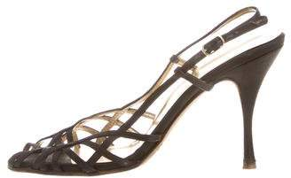 Dolce & Gabbana Satin Ankle Strap Sandals