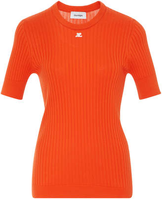 Courreges Cotton And Cashmere Top