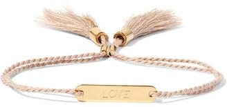 Chloé - Messages Gold-tone Cotton Bracelet - Pink $280 thestylecure.com