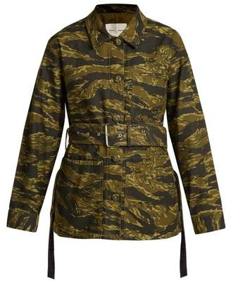 Proenza Schouler Pswl - Camouflage Print Cotton Jacket - Womens - Green Print