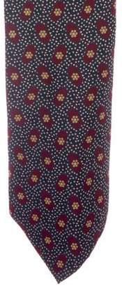 Giorgio Armani Floral Print Silk Tie