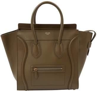 Celine Luggage Khaki Leather Handbags