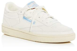 Reebok Women's Club C 85 Vintage Leather Lace Up Sneakers