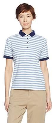 Onyone (オンヨネ) - [オンヨネ]レディス半袖ボーダーポロシャツ レディース ブルー 日本 S (日本サイズS相当)