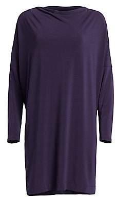 Issey Miyake Women's Draped Jersey Shirtdress