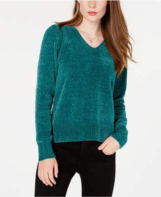 Maison Jules V-Neck Chenille Sweater
