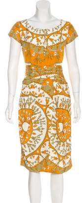 Christian Dior Printed Silk Dress