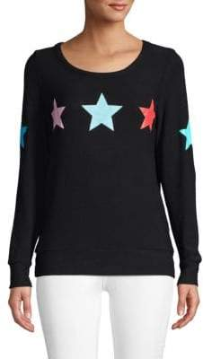Chaser Star Print Long Sleeve Pullover